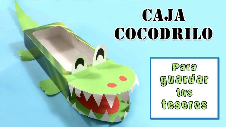 Caja cocodrilo – Manualidades infantiles