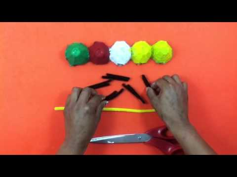 Oruga con cartón de huevo – Manualidades divertidas para niñas y niños