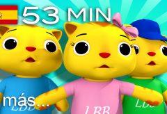 Tres gatitos y más canciones infantiles con animación