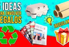 5 ideas originales para envolver regalos en Navidad.  Manualidades para niñas y niños.