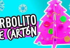 Arbolito de Navidad Reciclado con Cartón | Manualidades en Navidad