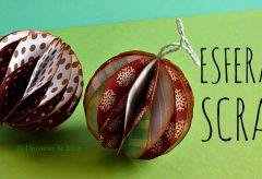 Esferas Scrap o de papel para el árbol de Navidad / Manualidades en Navidad