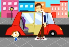 Jota Jota quiere aprender seguridad vial: en el coche de papá