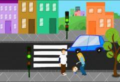 Jota Jota quiere aprender seguridad vial: cruzando la calle