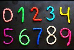 Los números en español para niñas y niños con plastilina