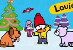 Louie dibújame el Invierno y la Navidad – Varios episodios