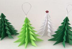 Manualidades para Navidad – Árbol de Navidad de papel