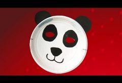 Máscara de oso panda para tu disfraz en Carnaval