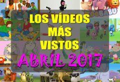 Los 10 vídeos infantiles para niñas y niños gratis más vistos en abril-2017