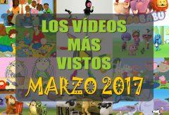 Los 10 vídeos infantiles para niñas y niños gratis más vistos en marzo-2017