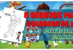 8 dibujos para colorear de la Patrulla Canina – Paw Patrol