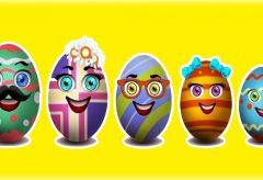 La familia Dedo cantada con huevos de Pascua y más canciones – Canciones en inglés