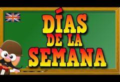 Dias de la semana en inglés /  Inglés para niñas y niños con Mr. Pea