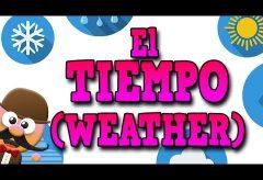 El clima en inglés / Inglés para niñas y niños con Mr. Pea