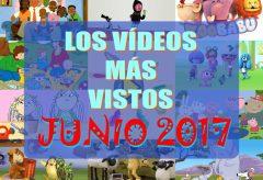 Las 10 series de dibujos y vídeos infantiles para niñas y niños más vistos en junio-2017