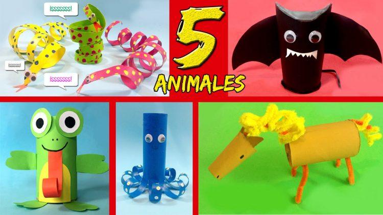5 animales de cartón – Manualidades para niños y niñas