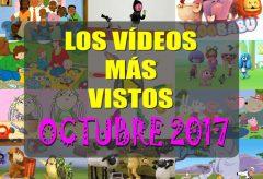 Los 10 dibujos y vídeos infantiles para niñas y niños más visitados en octubre-2017 en Videos-Infantiles.net