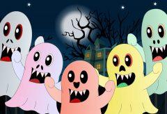 Cinco pequeños monstruos / Canciones infantiles para Halloween