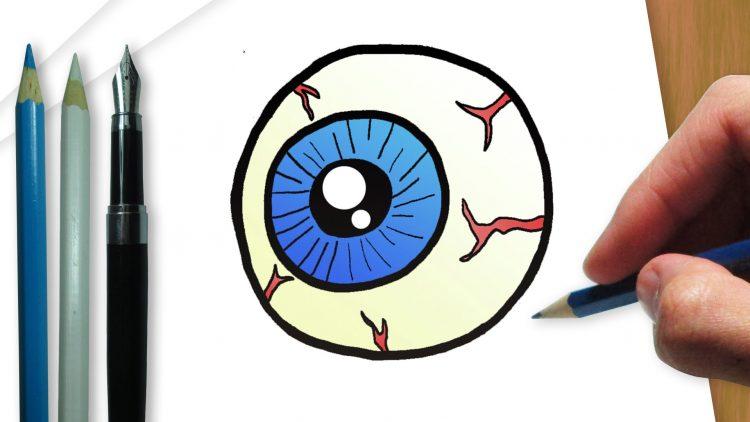 ¿Cómo dibujar un ojo terrorífico de Halloween?  / Manualidades para Halloween