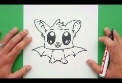 ¿Cómo dibujar un simpático murciélago para Halloween?  /  Manualidades para Halloween