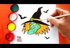 ¿Cómo dibujar una bruja de Halloween?  / Manualidades para Halloween