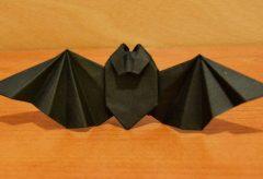 Cómo hacer un murciélago de papel / Decoración para Halloween