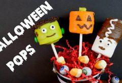 Paletas de bombón y chocolate para Halloween / Recetas infantiles