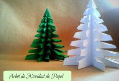 Hacer un árbol de Navidad con hojas de colores / Navidad
