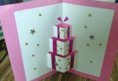 Hacer un bonita tarjeta de felicitación navideña / Manualidades en Navidad
