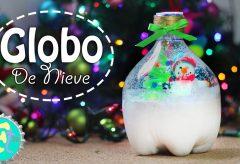 Haz tu propio globo de nieve con bote de refresco / Manualidades en Navidad