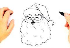 Cómo dibujar la cara de Papá Nöel / Manualidades navideñas