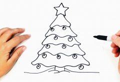 Cómo dibujar un árbol de Navidad / Manualidades navideñas